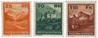 Liechtenstein 1933 - Michel 119/121 - Ubrugt