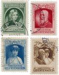 Liechtenstein 1929 - Michel 90/93 - Oblitéré