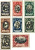 Liechtenstein 1921 - Michel 53-60 - Ubrugt