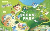Hong Kong - Ocean Park - Postfrisk miniark
