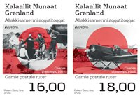 Greenland - EUROPA 2020 Ancient Postal Routes - Mint set 2v