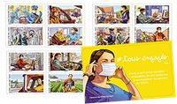 Frankrig - Bekæmpelsen af Covid-19 - Postfrisk frimærkehæfte