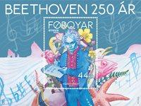 Færøerne - Ludwig van Beethoven 250 år - Postfrisk miniark