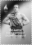 Estland - A.Neuland OL-vinder ægte sølv frimærke - Postfrisk frimærke
