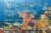 Thailand - Livet i havet overtryk - Postfrisk miniark