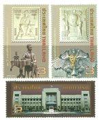 Thaïlande - Bureau de poste central - Série neuve 3v