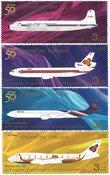 Thailand - Thai Airways - Postfrisk sæt 4v