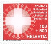 Switzerland - COVID-19 - Mint charity stamp