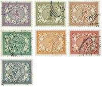 Suriname 1902-1908 - NVPH 41/47 - stemplet