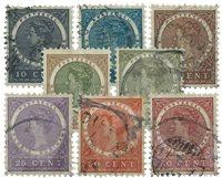 Suriname 1904-1908 - NVPH 48/55 - stemplet