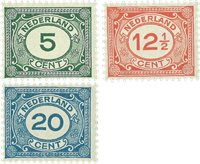 Holland 1921-1922 - NVPH 107-109 - Postfrisk