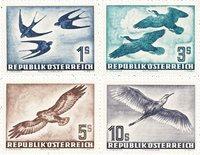 Østrig 1953 - Michel 984/987 - Postfrisk