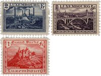 Luxembourg - 1921 - Michel 134/136, neuf