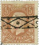 Belgique 1869 - Oblitéré - OBP 37