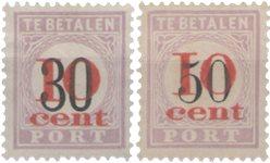 Surinam 1911 - NVPH P15/16 - oblitéré