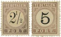 Surinam 1886-1888 - NVPH P1/2 - Neuf avec charnière