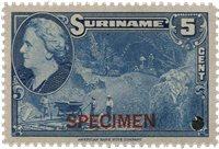 Suriname - Wilhelmina 1945 specimen opdruk 250 euro cataloguswaarde (nr.226