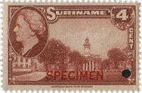 Suriname - Wilhelmina 1945 specimen opdruk 250 euro cataloguswaarde (nr.225