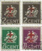 Surinam 1942 - NVPH 202/05 - oblitéré