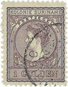 Suriname 1907 - NVPH 56 - stemplet