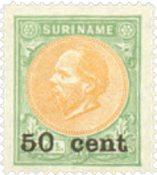 Nederland - 50 ct op 2½gld bruin/grijs hulpuitgifte (nr. 40, ongebruikt)