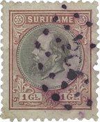 Suriname 1873-1889 - NVPH 14 - stemplet