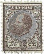 Suriname 1873-1889 - NVPH 12 - stemplet