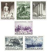 Holland 1950 - NVPH 550-555 - Postfrisk