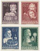 Østrig 1949 - Michel 929/932 - Postfrisk