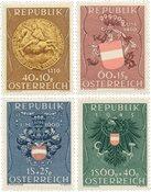 Østrig 1949 - Michel 937/940 - Postfrisk