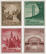 Tyskland - Tyske Rige 1938 - Michel 665/668 - Ubrugt