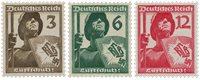 Empire Allemand 1937 - Michel 643/645 - Neuf avec charnières