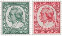 Empire Allemand 1934 - Michel 554/555 - Neuf avec charnières