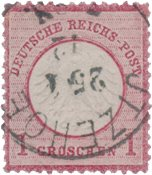 Tyskland - Tyske Rige 1872 - MICHEL 4 - Stemplet
