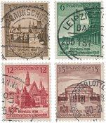 Tyske Rige 1938 - MICHEL 665-68 - Stemplet