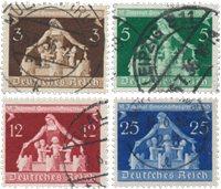 Tyske Rige 1936 - MICHEL 617-20 - Stemplet