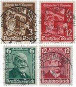 Empire Allemand - 1936 - Michel 598/599 en 604/605, oblitéré