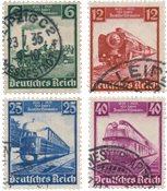 Tyske Rige 1935 - MICHEL 580-83 - Stemplet