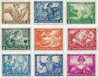 Tyske Rige 1933 - Michel 499-507 - Postfrisk