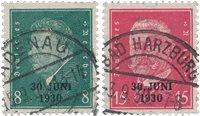 Empire Allemand - 1930 - Michel 444/445, oblitéré