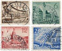 Empire Allemand - 1940 - Michel 739/742, oblitéré