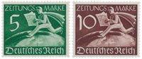 Tyske Rige - 1939 - Michel Z738/739, Postfrisk