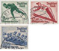 Tyske Rige - 1936 - Michel 600/602 - Stemplet