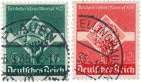 Tyske Rige - 1935 - Michel 571/572, Stemplet