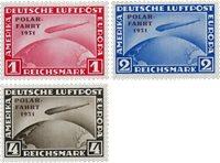 Tyske Rige - 1931 - Michel 456-458 - Postfrisk