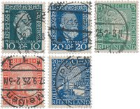 Empire Allemand - 1924 - Michel 368/369 + 372/374,  oblitéré