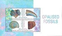 Australien - Opalfossiler - Postfrisk miniark