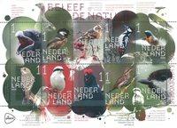 Netherlands - Forest and heather birds - Mint souvenir sheet