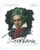 Østrig - Ludwig van Beethoven - Postfrisk frimærke