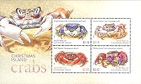 Îles Christmas - Crabes - Bloc-feuillet neuf